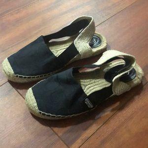Ladies women 6 Coach espadrilles flats shoes